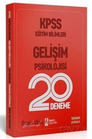 2020 KPSS Eğitim Bilimleri Gelişim Psikolojisi 20 Deneme