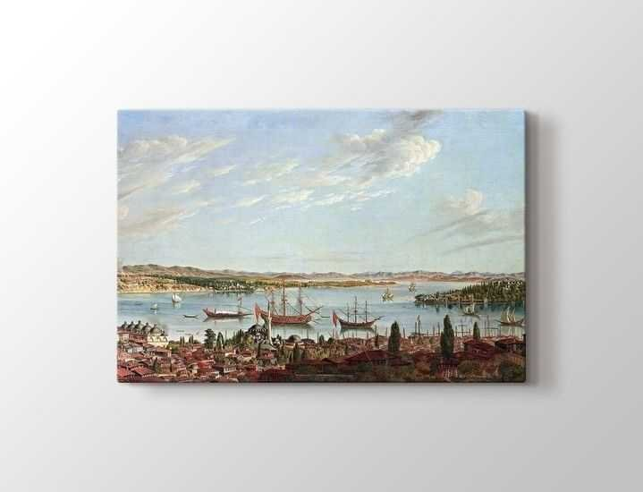 Antonie De Favray - Boğaziçi ve Haliç Panoramik 1770 Tablo |60 X 80 cm|