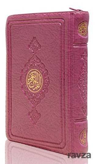 Büyük Cep Boy Kur'an-ı Kerim (Lila Renk, Kılıflı, Mühürlü)
