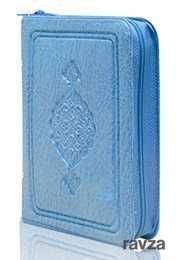Cep Boy Kur'an-ı Kerim (Mavi Renk, Kılıflı, Mühürlü)