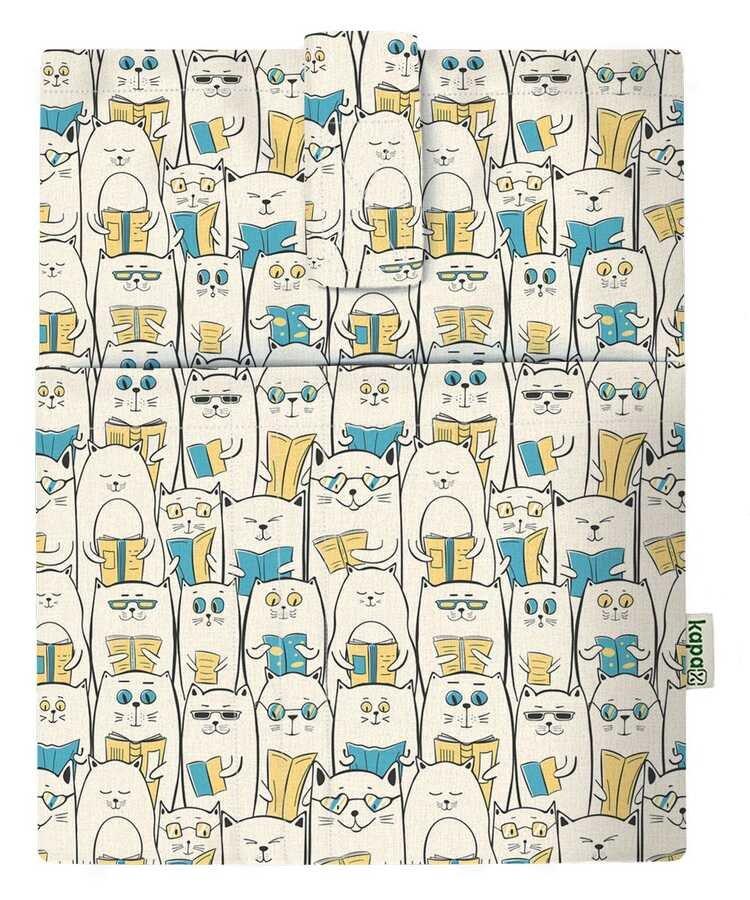 Cepli Kitap Kılıfı - Okuyan Kedi (20x25)