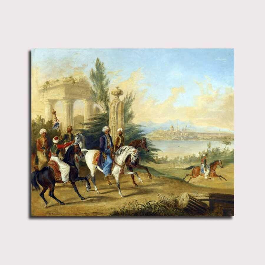 Constantınople'den Önce George Henry Laporte Noblemen Tablo |80 X 80 cm|