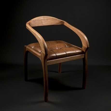 Dekoratif El Yapımı Sandalye (Ceviz)