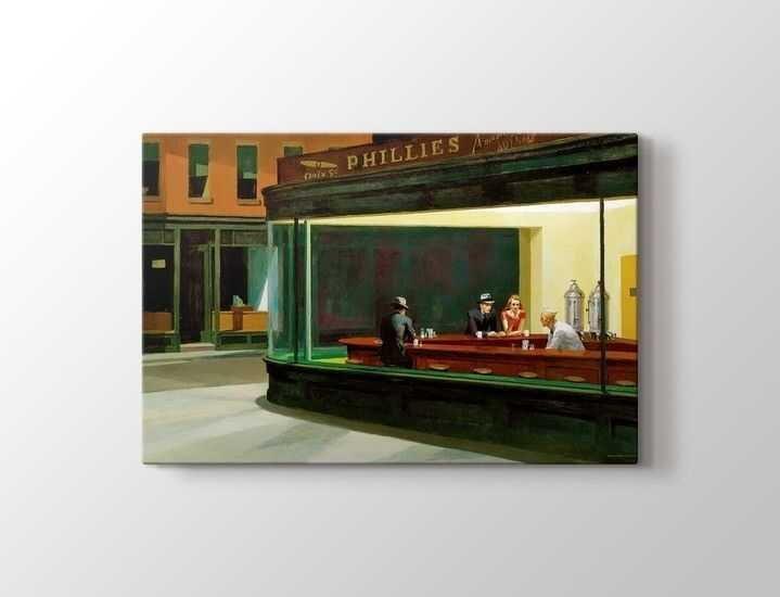 Edward Hopper - Nighthawks Tablo |60 X 80 cm|