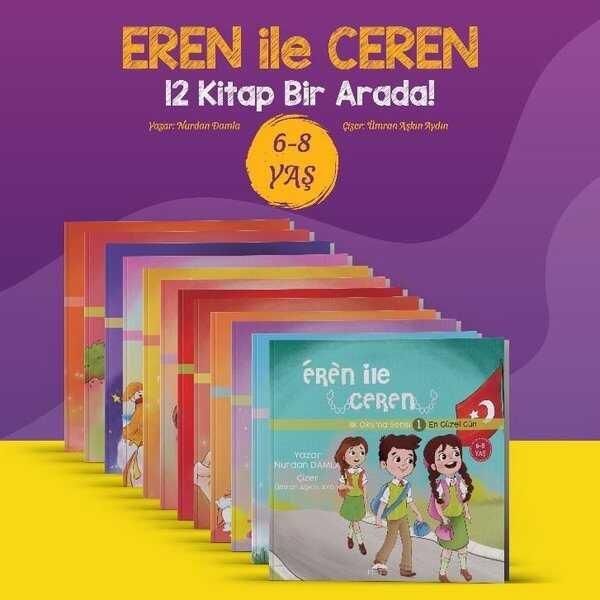 Eren ile Ceren İlk Okuma Serisi (12 Kitap Takım)