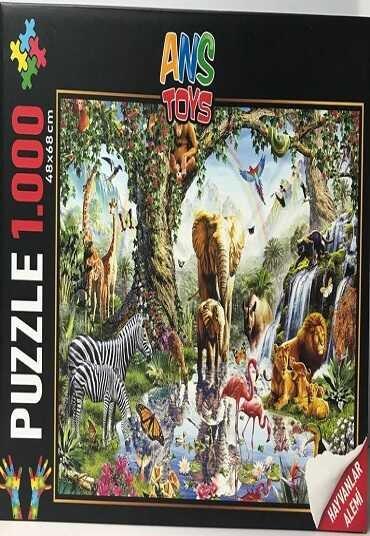 Hayvanlar Alemi Puzzle (1000 Parça)