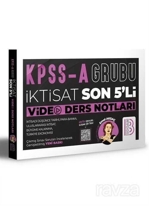 KPSS A İktisat Son 5'li Video Ders Notları