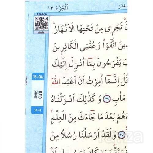 Kur'an-ı Kerim Bilgisayar Hatlı Mavi Renk Orta Boy (Kur-an 015) Sesli Kur-an