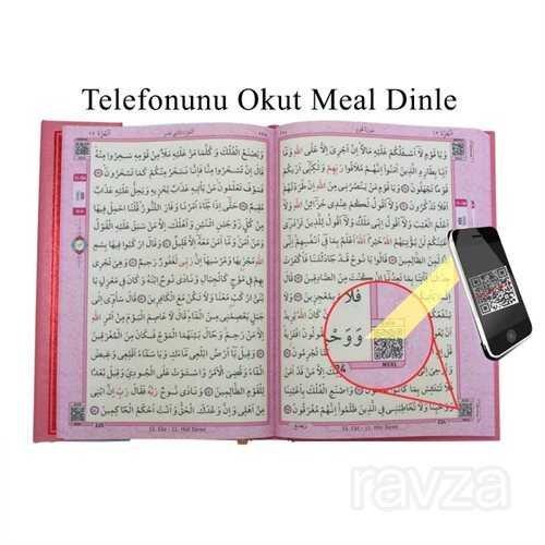Kur'an-ı Kerim Bilgisayar Hatlı Pembe Renk Orta Boy (Kur-an 014) Sesli Kur-an