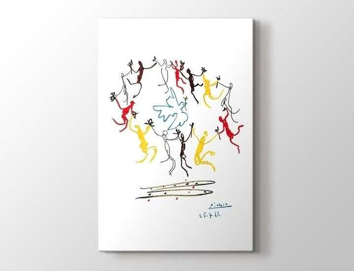 Pablo Picasso - The Dance of Youth Tablo  60 X 80 cm 