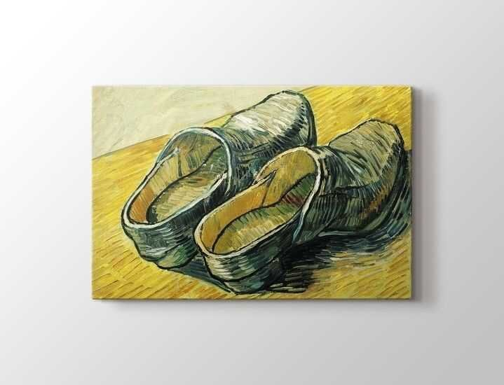 Vincent van Gogh - A Pair of Leather Clogs Tablo |60 X 80 cm|