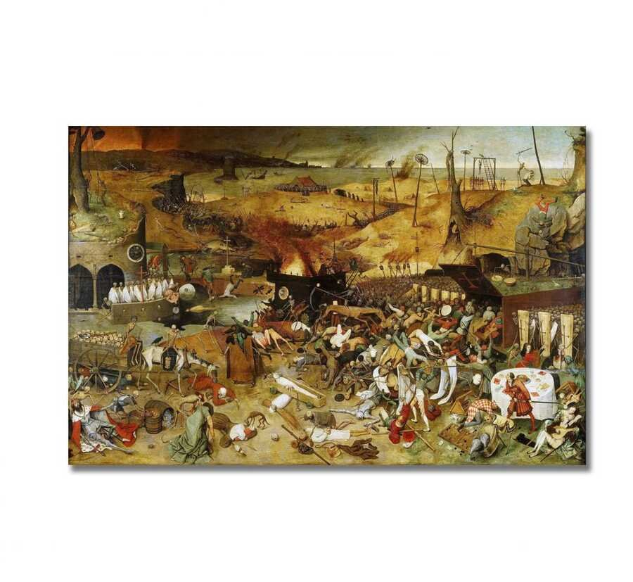 Pieter Brugel - The Triumph of Death Tablo |50 X 70 cm|