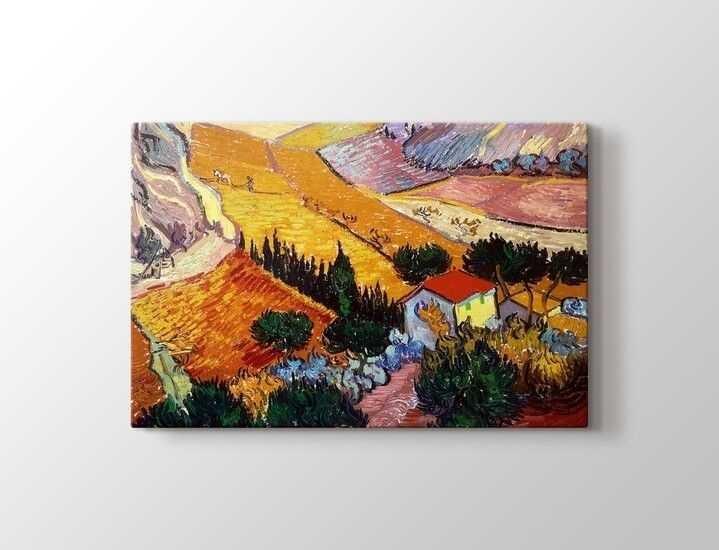 Vincent van Gogh - Landscape with House and Ploughman Tablo |60 X 80 cm|