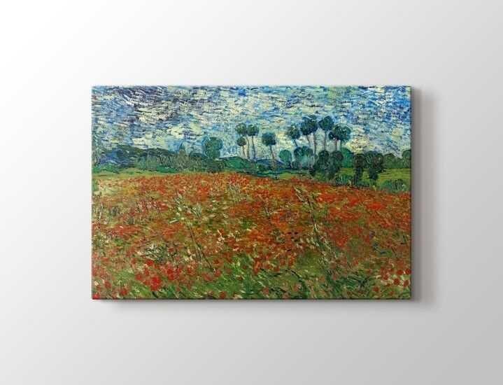Vincent van Gogh - Poppy Field Tablo  60 X 80 cm 