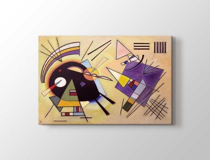 Wassily Kandinsky - Black and Violet Tablo|80 X 80 cm|