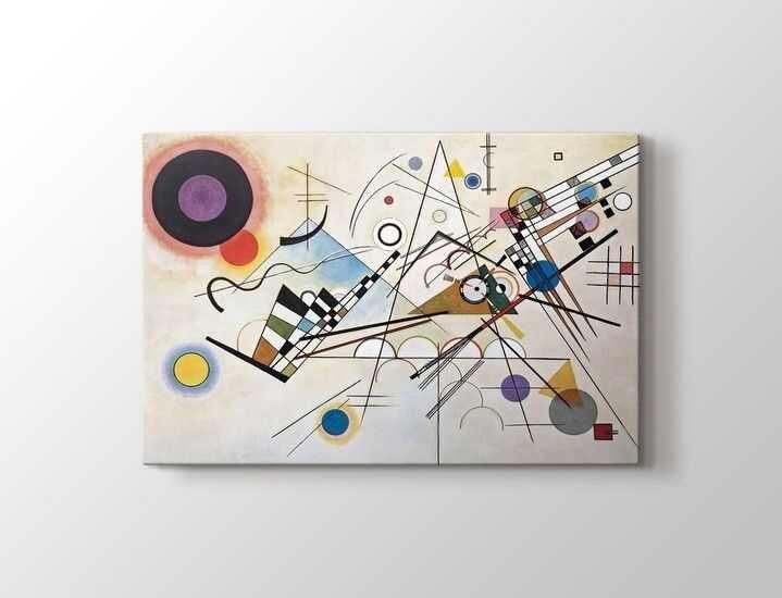Wassily Kandinsky - Kompozisyon VIII Tablo  80 X 80 cm 