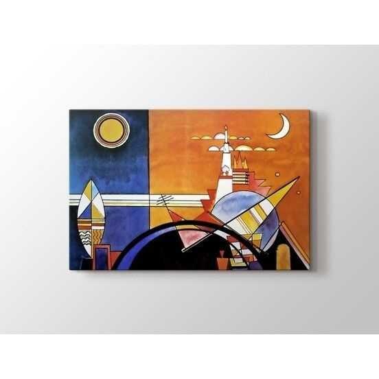 Wassily Kandinsky - La Grande Torre a Kiev Tablo  80 X 80 cm 